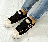 Женская спортивная обувь, кеды черного цвета стильные