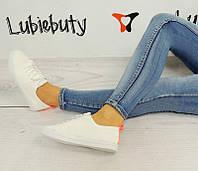 Женская спортивная обувь, кеды белого цвета на каждый день  размеры 37-41