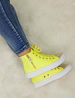 Женская спортивная обувь, кеды желтого цвета  размеры 40