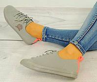 Женская спортивная обувь, кеды серого цвета