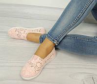 Летняя женская обувь,балетки, туфли розового цвета