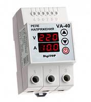 Реле напряжения с контролем тока VA-protector 40A DigiTOP