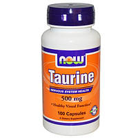 Аминокислоты Now Foods Taurine 500 mg 100 caps