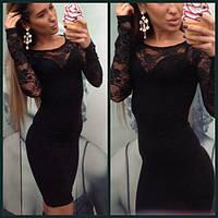 Платье миди с гипюром