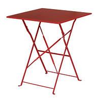 Стол садовый квадратный, складной, цвет красный