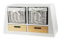 Тумба с деревянными ящиками и корзинами для хранения Handy-Home