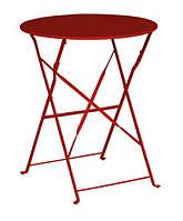 Столик садовый круглый, складной, цвет красный
