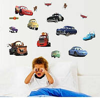 Наклейка виниловая Машинки Тачки 3D декор