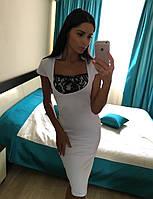 Стильное белое платье, фото 1