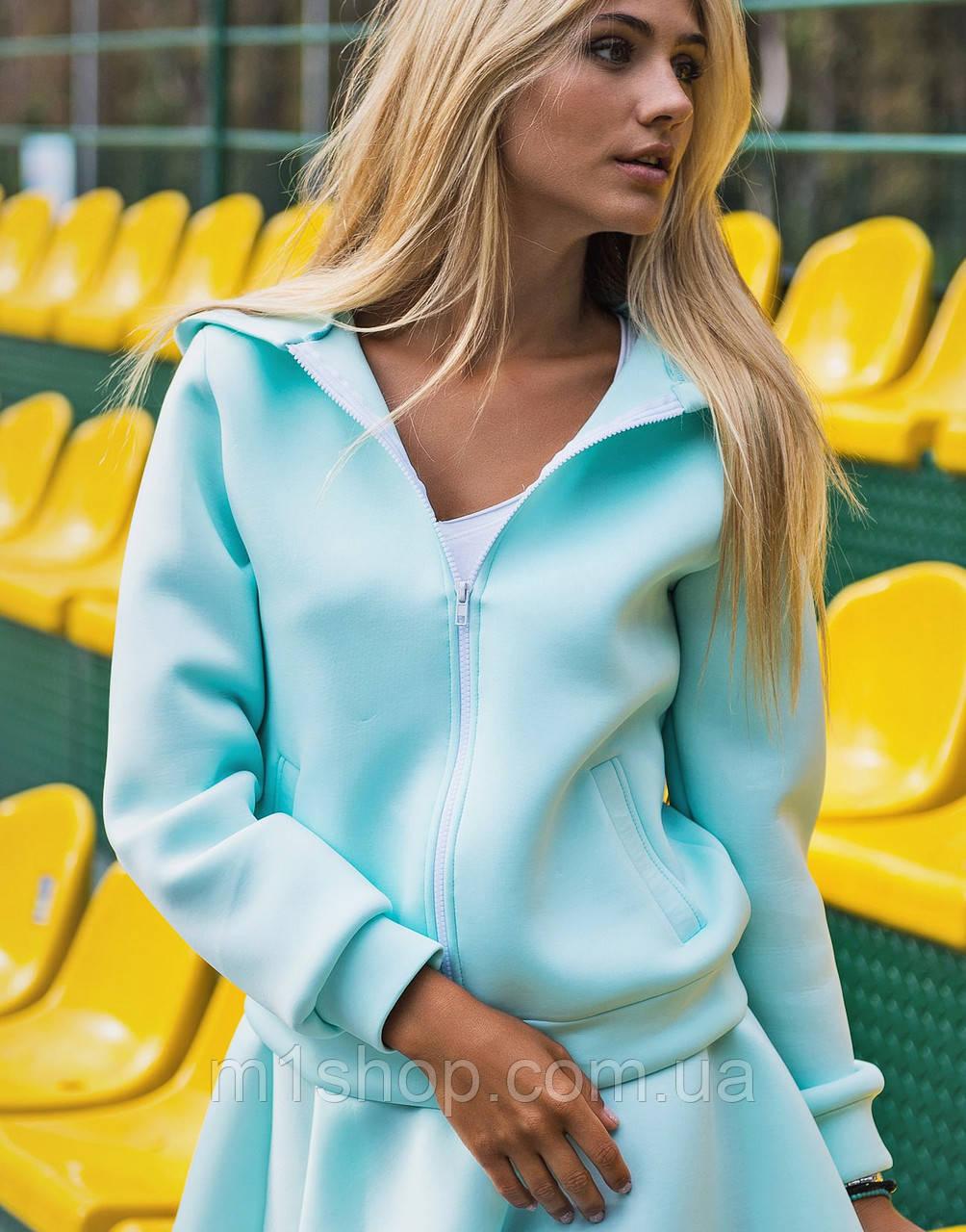 Женская куртка с капюшоном из неопрена (1244 sk)