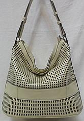 Стильная женская сумка из натуральной кожи.Светлая сумка.Бежевая кожаная сумка.Сумка налето из кожи.