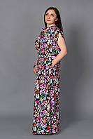 Летнее платье с розами длинное в пол есть большой размер