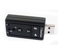 Контроллер USB-sound card (7.1) 3D sound (Windows 7 ready), OEM