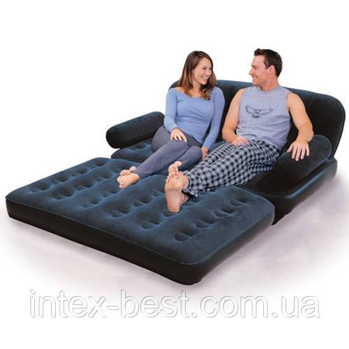 BestWay 67356 «Comfort Quest» Надувной диван-трансформер 5в1 (193x152x64) + насос 220V. Велюр!!!