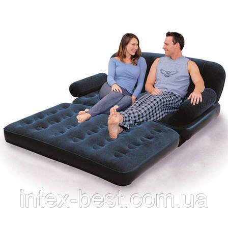 BestWay 67356 «Comfort Quest» Надувной диван-трансформер 5в1 (193x152x64) + насос 220V. Велюр!!!, фото 2