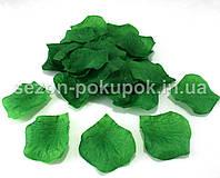 Лепестки роз искусственные (упаковка 100 шт) Цвет - зеленый