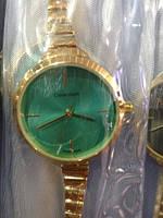 Часы наручные женские CALVIN KLEIN (изумруд)