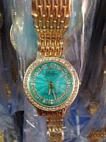 Годинники наручні жіночі Rolex (смарагд)