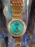 Часы наручные женские Rolex (изумруд)