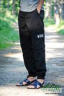 Чорні чоловічі штани карго Wild є опт, фото 1