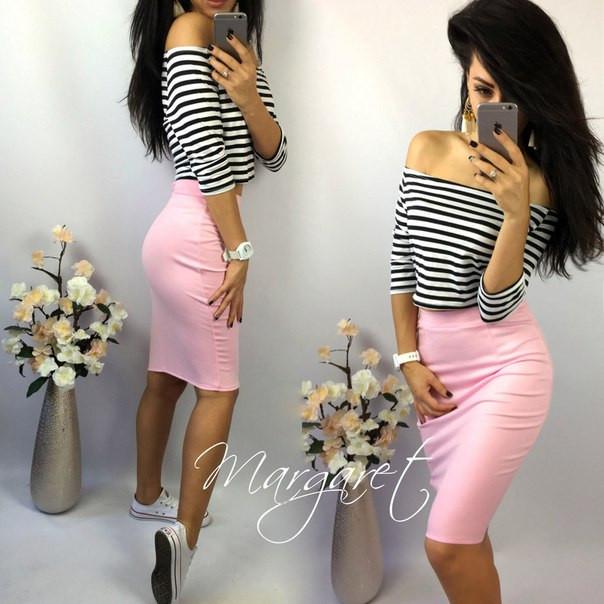 Стильная юбка до колена