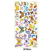 Наклейка виниловая Бабочки 3D декор