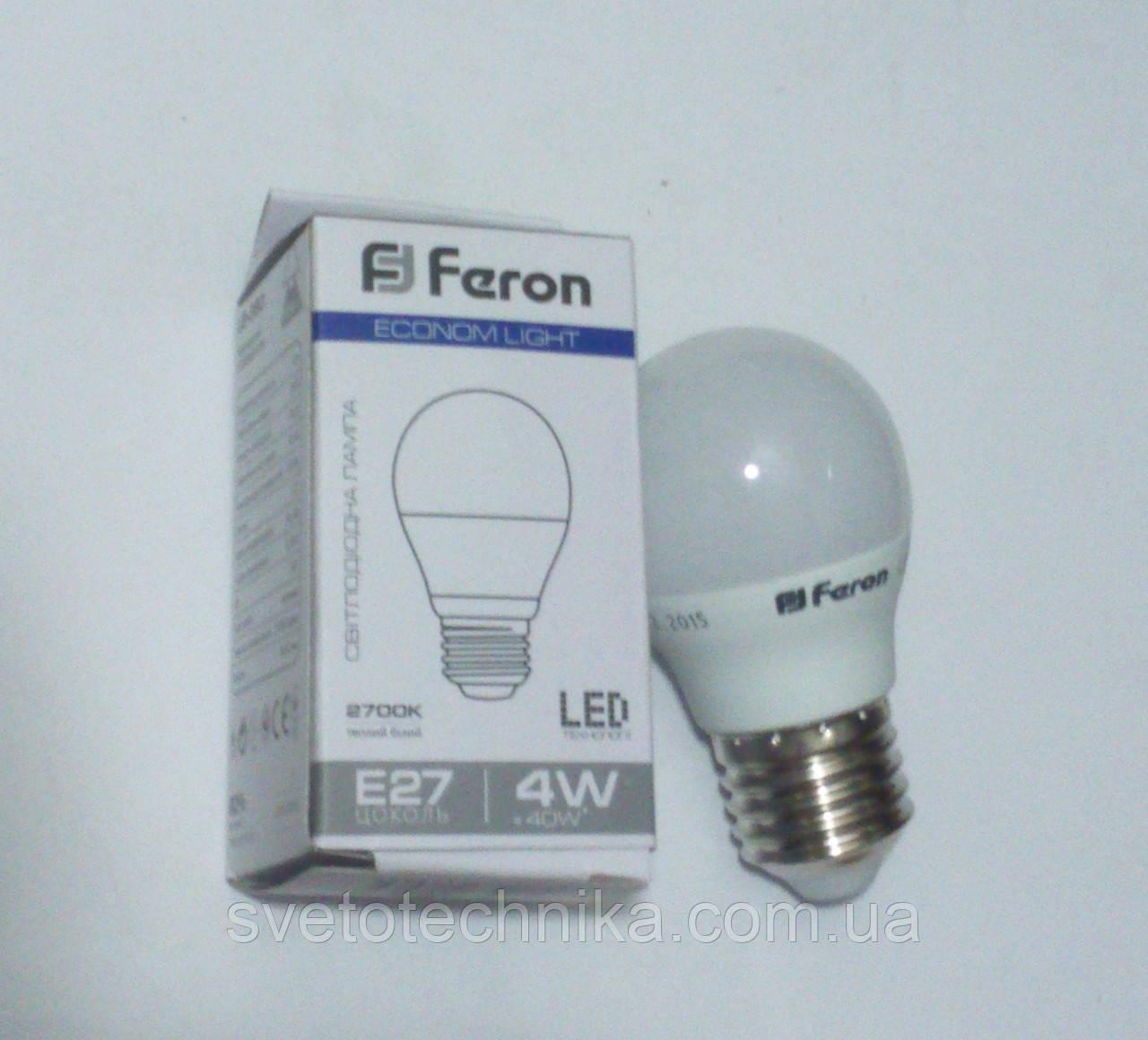 Светодиодная лампа Feron LB380 E27 4W  4000К