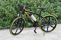 Электровелосипед Porshe Electrobike RD Чёрно-Желтый