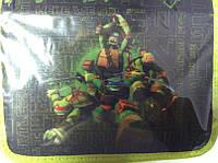 Пенал Одинарный с 2 отворотами Ninja Turtles С наполнением Starpak Польша