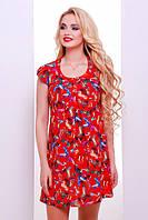 Красное короткое платье Бренда 42-50 размеры