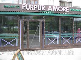 Прозрачные ПВХ шторы (Ахиллес, Япония) для кафе и ресторанов