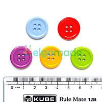 Пуговицы пластиковые КРУГЛЫЕ БОЛЬШИЕ, 20 мм, 5 шт, микс