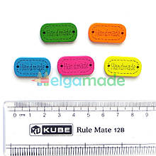Бирки деревянные HAND MADE 2, 25х13 мм, 5 шт, микс