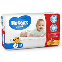 Подгузники детские Huggies Classic (3) от 4-9кг 58шт.