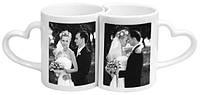Двойные чашки для влюбленных с нанесением Ваших фото