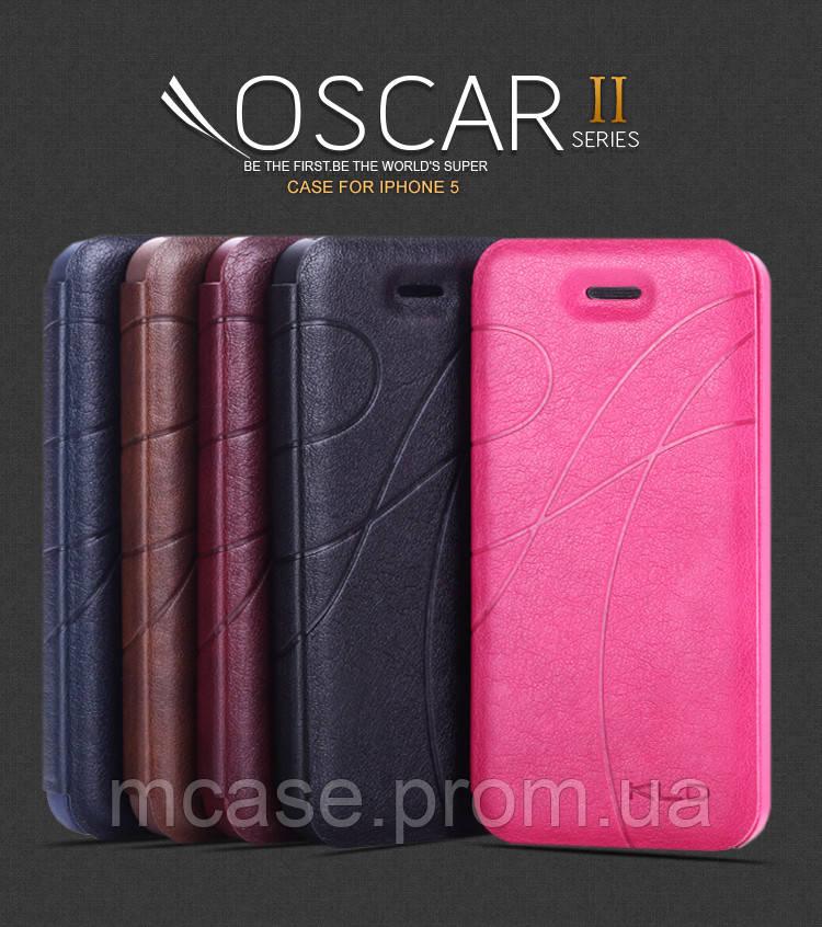 Кожаный чехол (книжка) KLD Oscar 2 Series для iPhone 5\5S\5C - M-CASE в Киеве