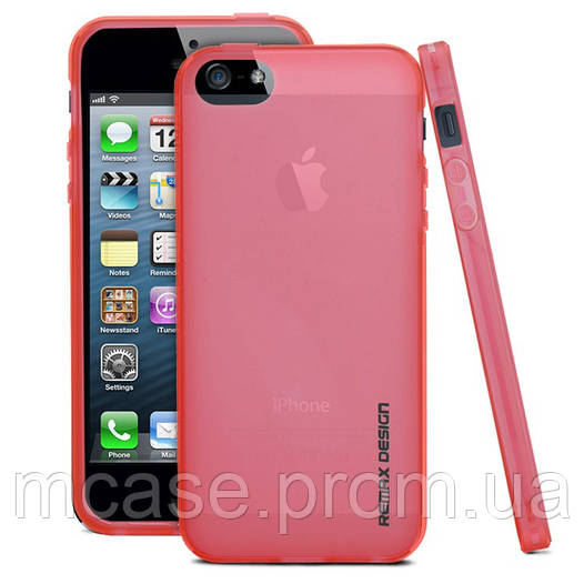 Чехол REMAX PUDDING SILICONE CASE для iPhone 5\5s РОЗОВЫЙ