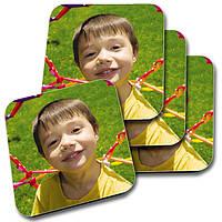 Подставка под чашку с логотипом или фото