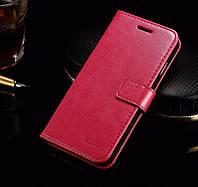 Кожаный чехол-книжка Fashion для iPhone 6 РОЗОВЫЙ