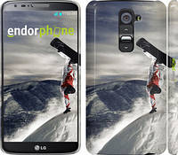 """Чехол на LG G2 Сноубордист в полёте """"647u-37"""""""