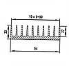 Алюминиевый радиаторный профиль  94х33 / б.п.
