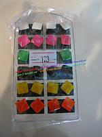 Серьги BIG7752 пластик 12 пар