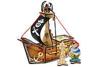 """Конструктор деревянный """"Пиратский корабль Карамба"""", Woody"""