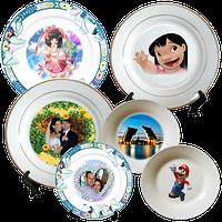 Фото на тарелке. Печать на керамических тарелках