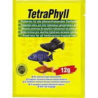 Tetra PHYLL 12 г - хлопья для всех видов растительноядных рыб