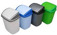 """Ведро для мусора пластиковое """"Домик"""" 9 литров с поворотной крышкой """"Горизонт"""" + Видео, фото 1"""