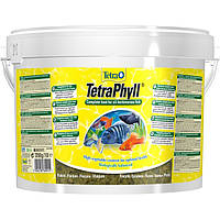 Tetra PHYLL 10L/2,05кг - растительные хлопья для аквариумных рыб