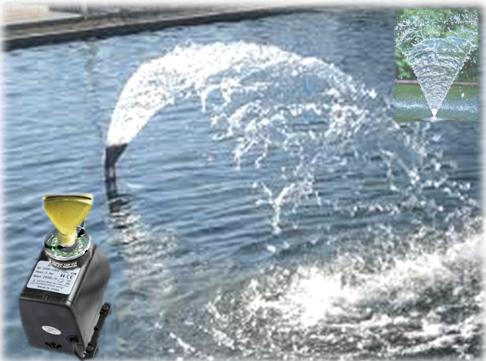 Насос для фонтана с подсветкой и насадкой Веер 45Вт  2500л/ч