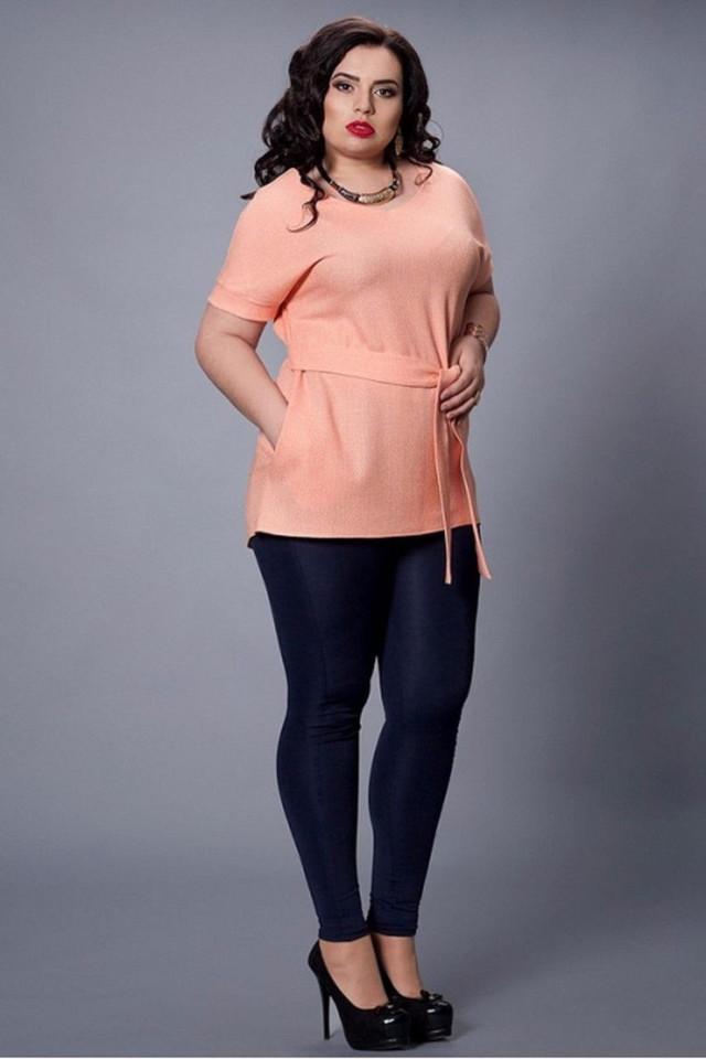 Абрикосовая женская блуза
