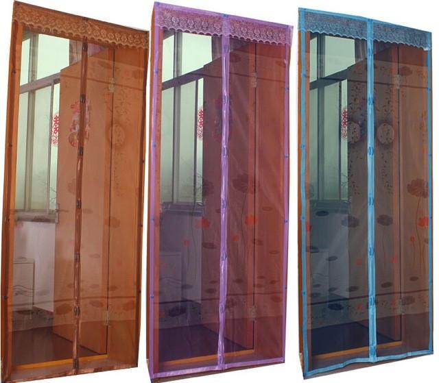 Антимоскитная штора с напечатанным изображением на комбинированом магните 100*210 синий